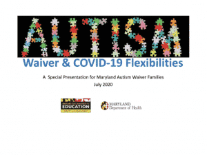 Autism Waiver and COVID-19 Flexibilities